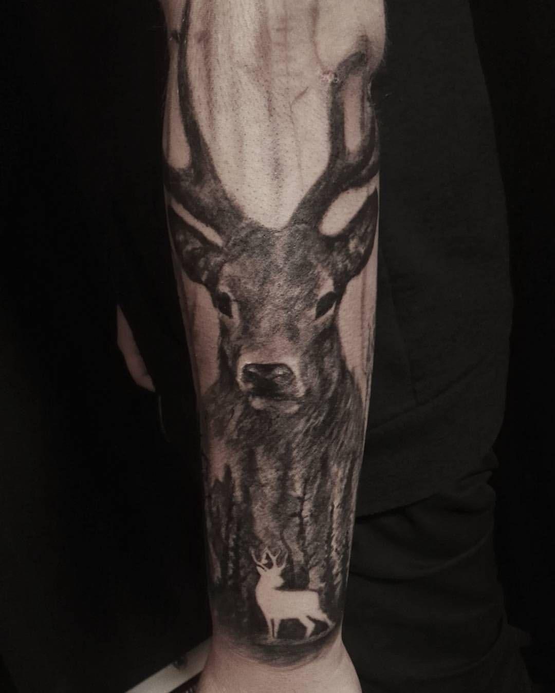 Bosque Forest Brazo En Proceso Tatuajes De Venados Tatuajes De