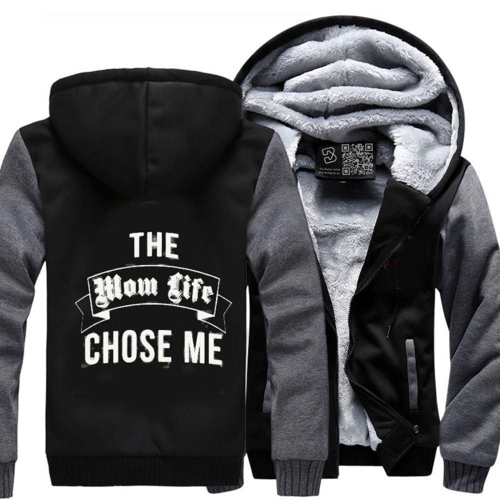 The mom life chose me motherus day fleece jacket products