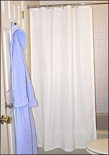 Wet Room Shower Curtains >> Weighted Shower Curtains Curbless Ada Shower Curtains