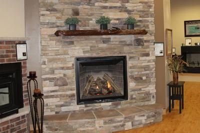 Kozy Heat Carlton 39 Log Fireplace B Bucks County Southern Ledge Stone