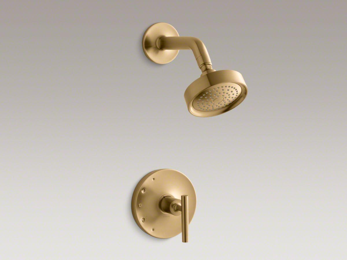 Shower Fixtures Vibrant Moderne Brushed Gold Shower Faucet