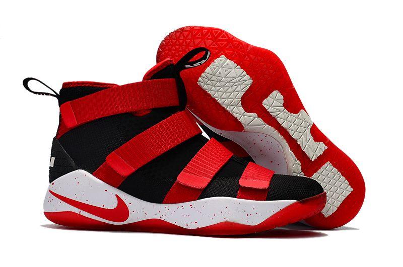Cheap Nike Lebron Soldier 11 Red Black White