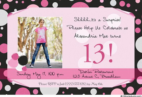 Awesome FREE Template Teenage Girl Birthday Invitations Free Printable 13th Party Ideas For Girls