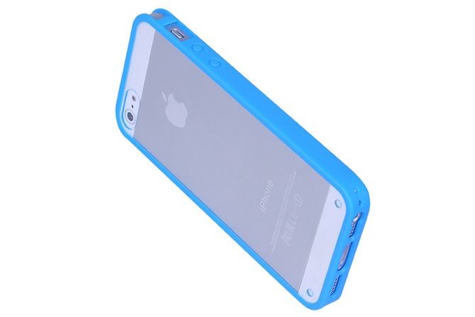 Transparent Slider Design Over mold Hybrid Protector Cases for iPhone 5s & iPhone 5 | Lagoo Tech