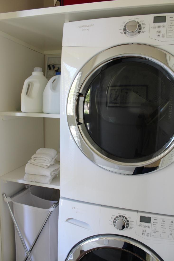 Washer Dryer Shelf Laundry Room Shelves Storage Stacked Washer Dryer Front Loader Via