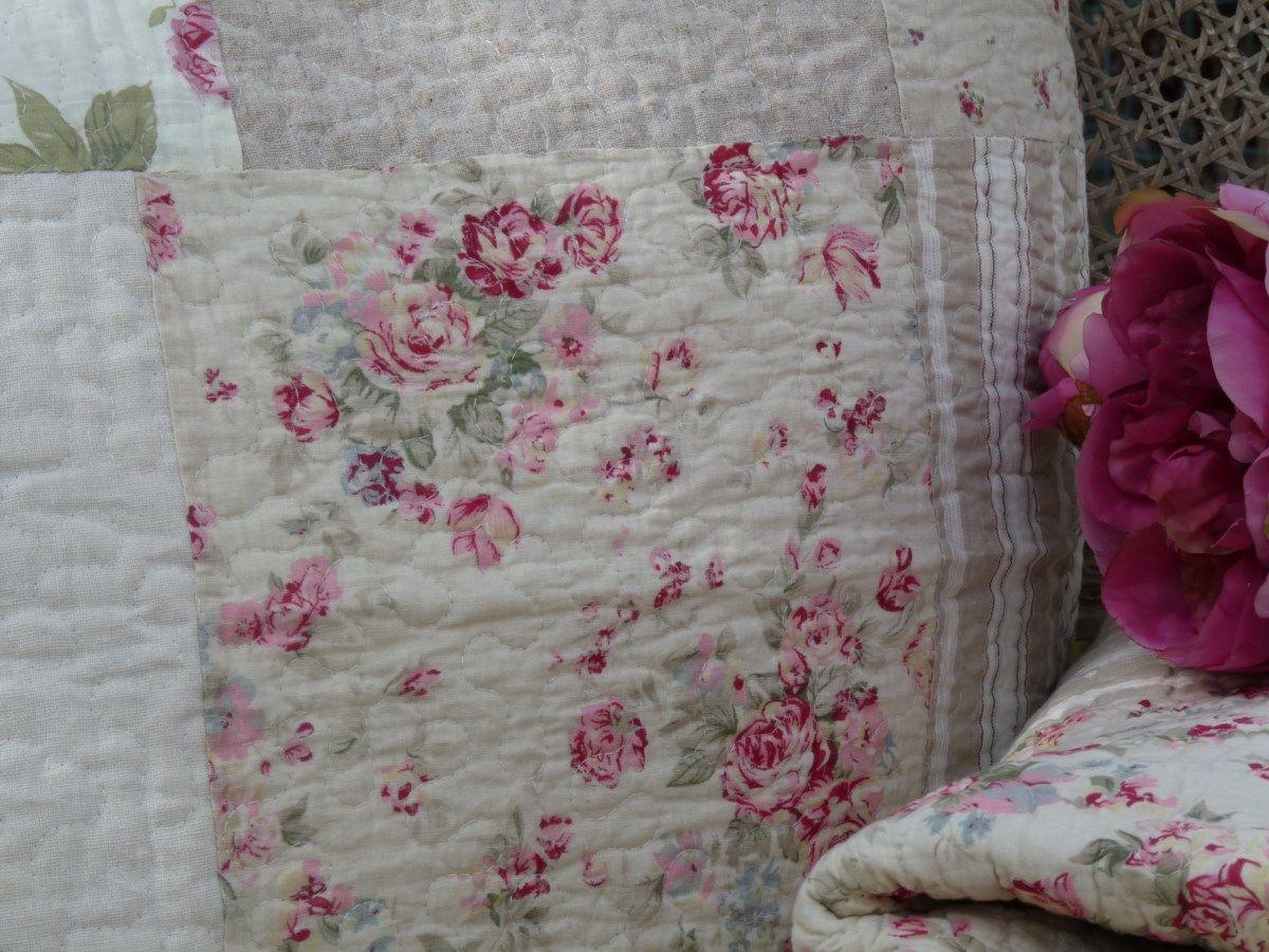 couvre lit boutis patchwork magnifique boutis 100 coton fa on patchwork assemblage de. Black Bedroom Furniture Sets. Home Design Ideas