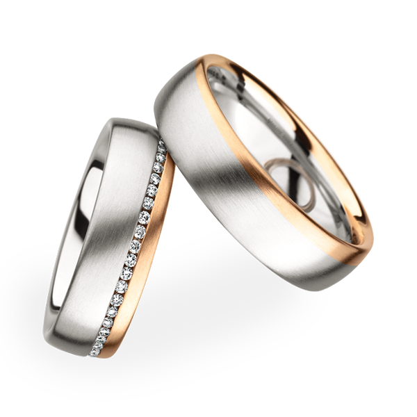 Dome styled Platinum Rose Gold wedding ring Yay or nay www