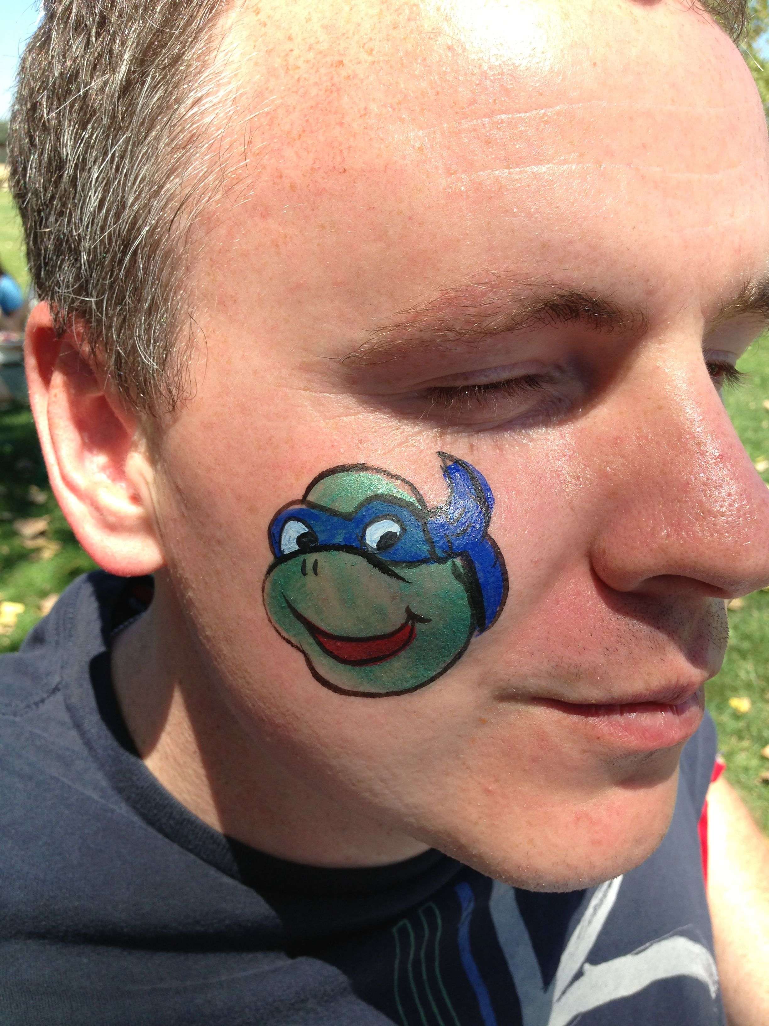 Teenage mutant ninja turtle face painting from the magic for Face painting clowns for birthday parties