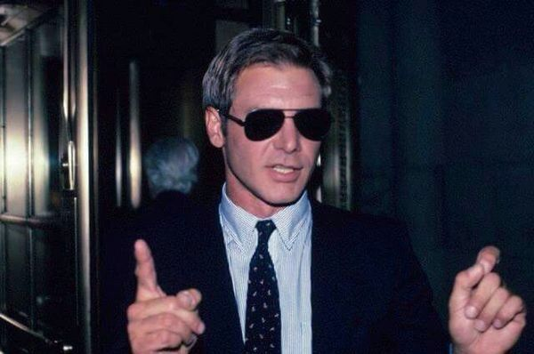 Harrison Ford Looking Cool In Sunglasses With Images Harrison