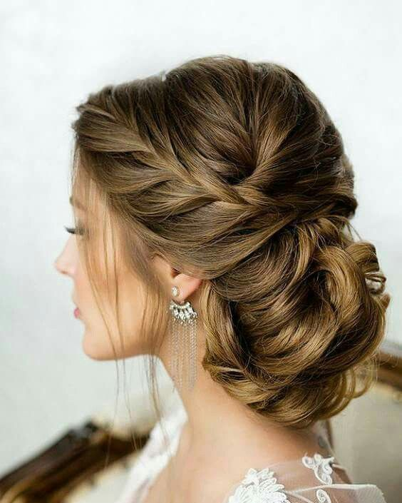 A gorgeous braided up-do look! #weddinghair #hairinspo #bridalhairstyle