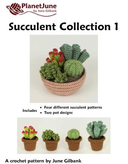 Pdf Succulent Collections 1 And 2 Eight Realistic Potted Plant Crochet Patterns Succulents Crochet Patterns Pattern