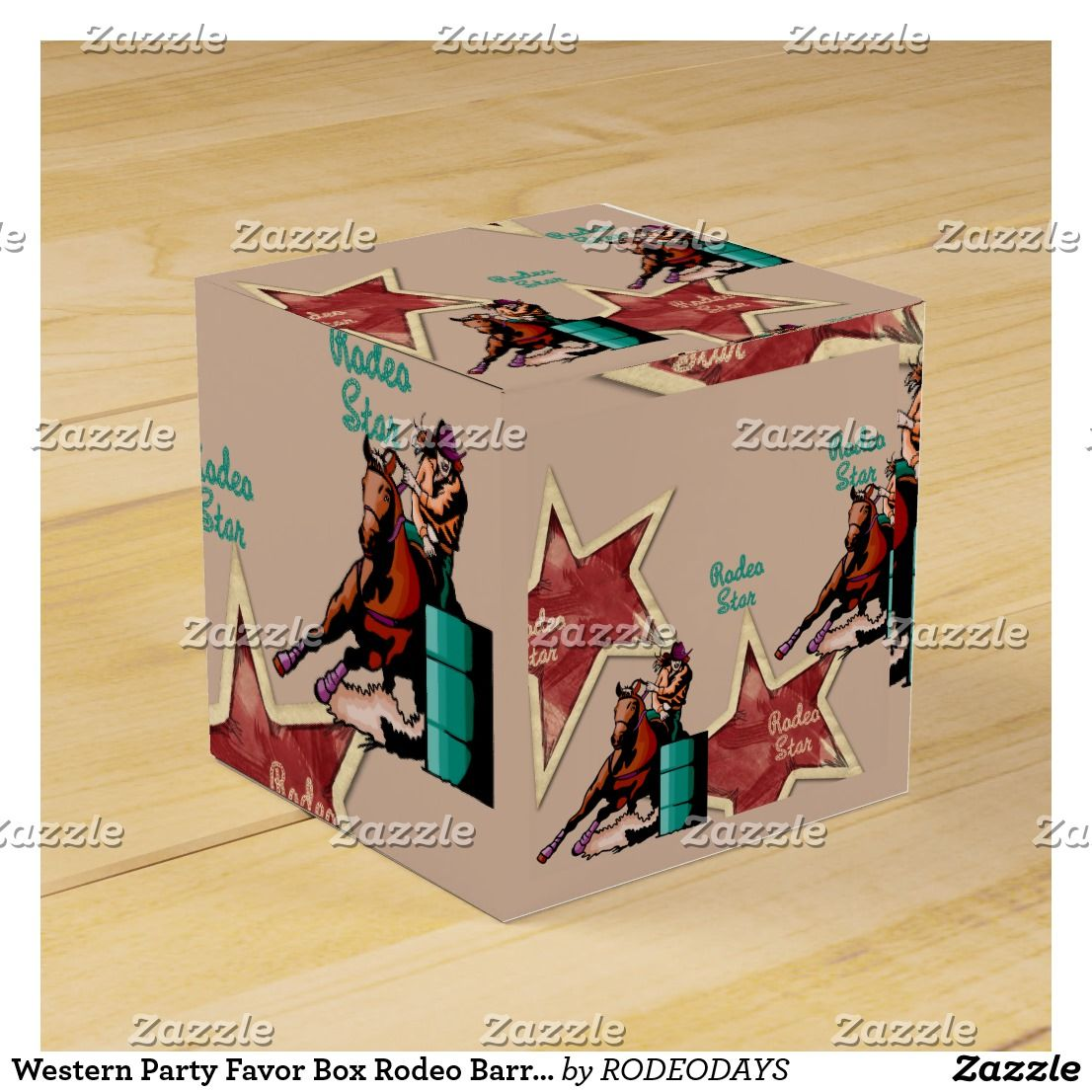 Western Party Favor Box Rodeo Barrel Racing | WESTERN GIFT WRAPPING ...