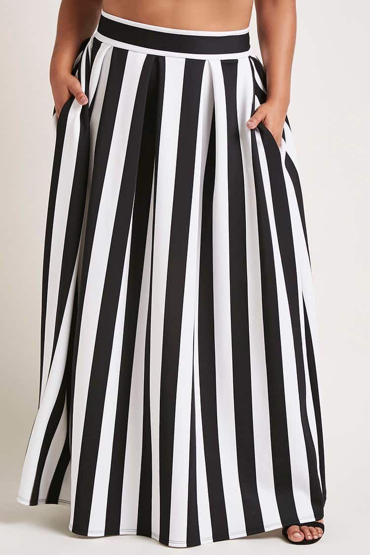 e62695f4ad Plus Size Scuba Maxi Skirt - Plus Size - New Arrivals - 2000239705 -  Forever 21 Canada English