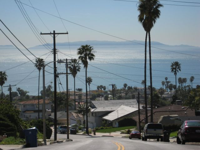 View Of Catalina Island From Anchovy Street In South Shores San Pedro California San Pedro California South Shores San Pedro