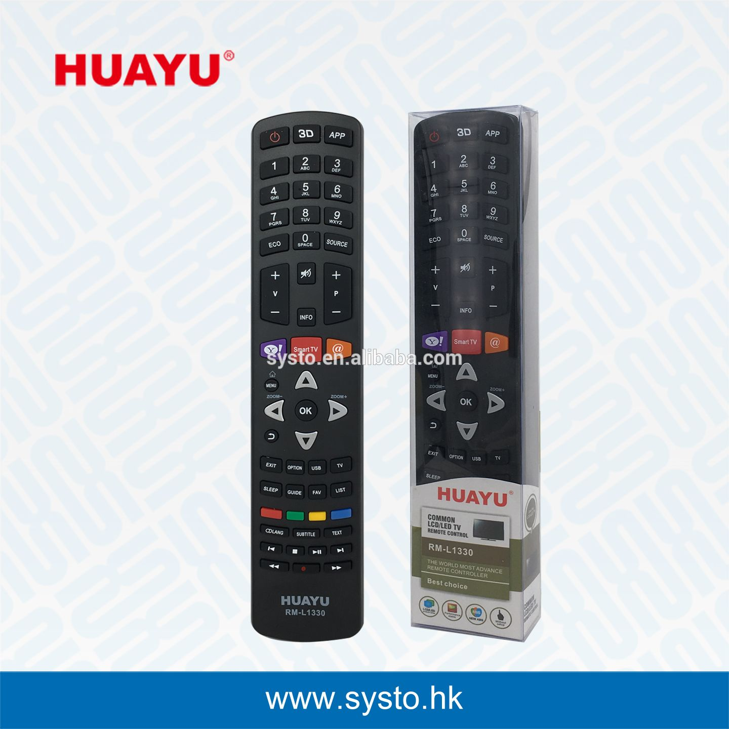 Systo released the TCL TV remote code-RM- L1330  It's applicable for