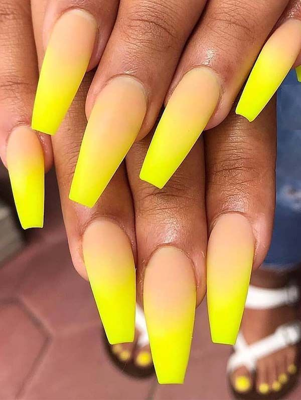 Incredible Ideas Of Yellow Nail Art Designs To Try In 2019 Absurd Styles Yellow Nails Coffin Nails Designs Yellow Nail Art