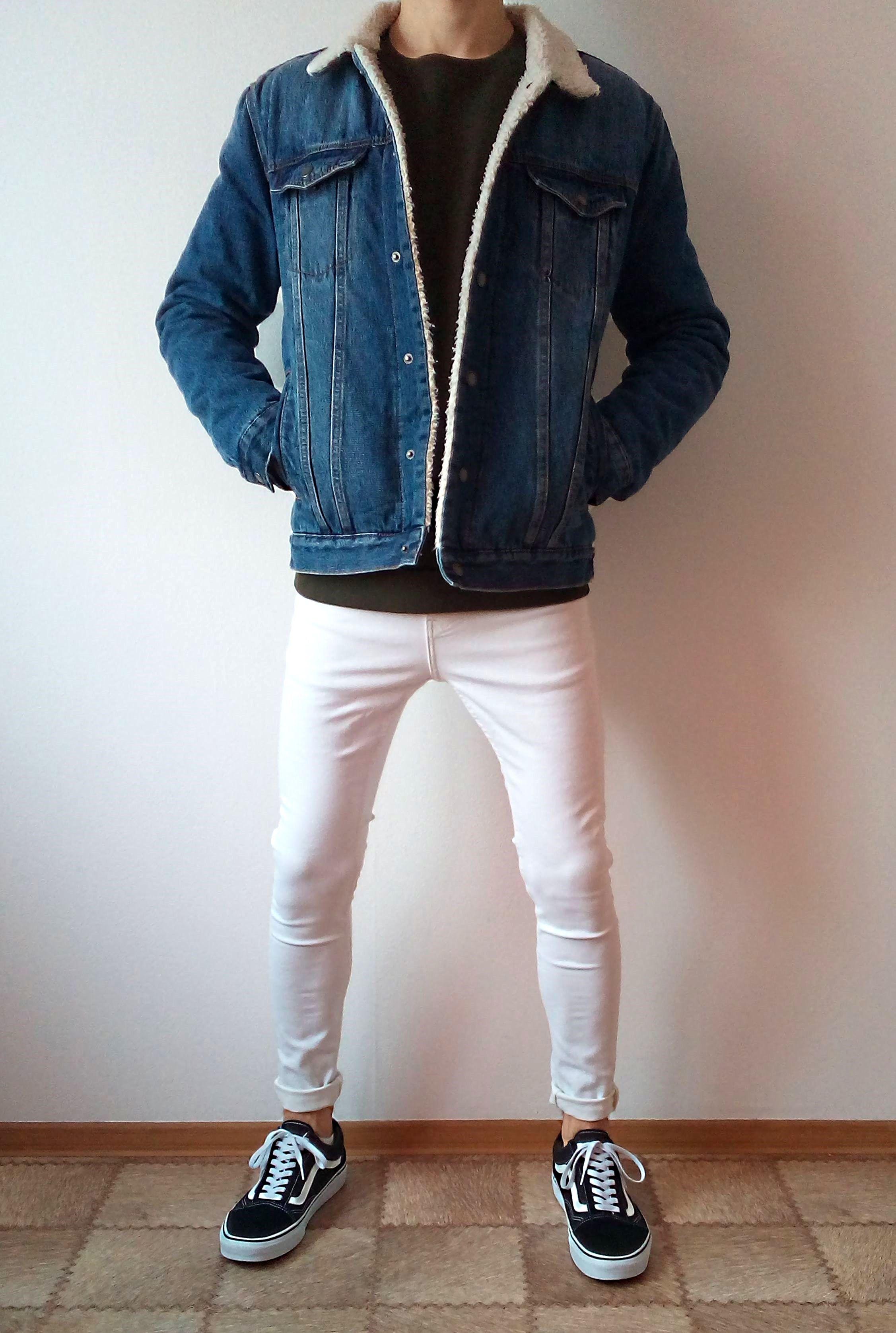 vans old skool white skinny jeans boys guys outfit
