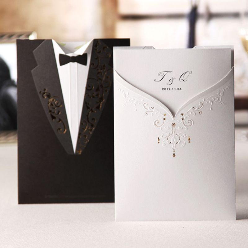 Buy Cheap Personalized Groom & Bride Wedding Invitations (Set of 50 ...