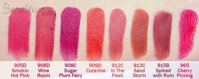 wet n wild lipstick swatches on dark skin - Google Search   make ...