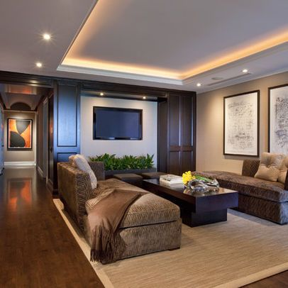 Chicago Tray Ceiling Design Ideas Pictures Remodel And Decor Recessed Lighting Living Room Contemporary Family Rooms Living Room Lighting