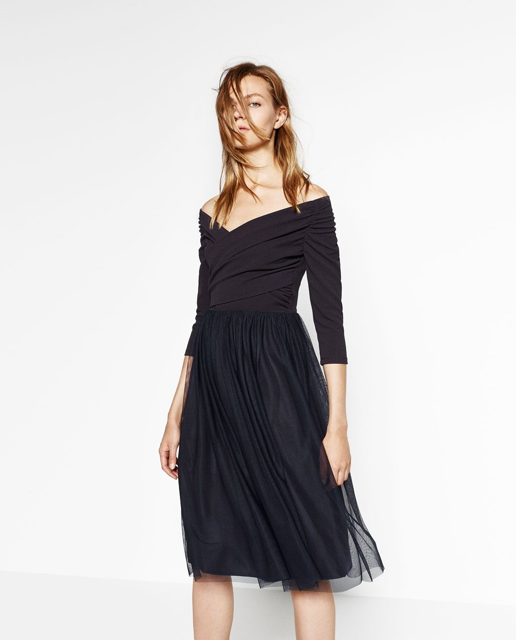 449893a4ea Image 2 of TULLE MIDI DRESS from Zara | for tailoring | Dresses ...