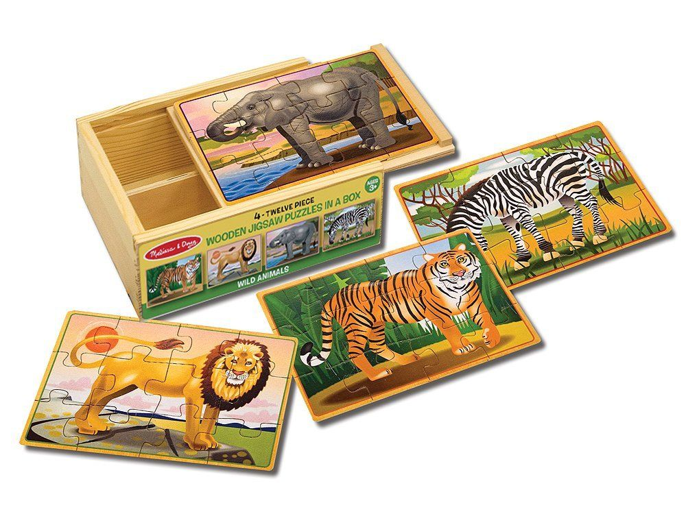 Melissa doug wooden jigsaw puzzles in a box