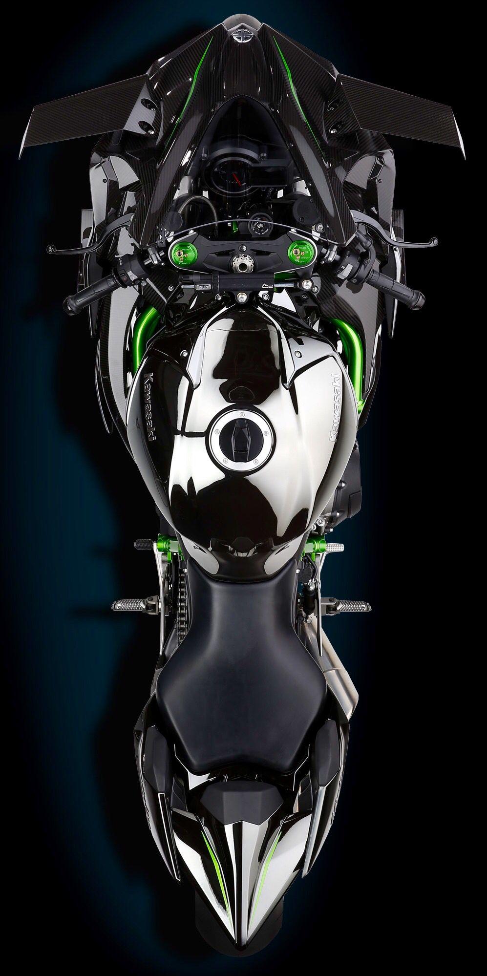 Kawasaki Ninja H2r Supercharged Track Bike Ninja Bike Kawasaki Bikes Kawasaki Ninja