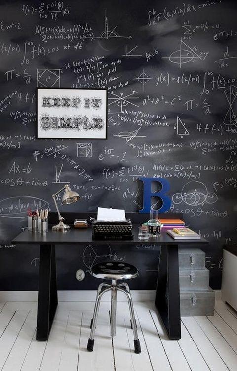 conseils d co pour am nager votre int rieur d co bureau pinterest bureau tableau noir et. Black Bedroom Furniture Sets. Home Design Ideas