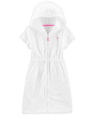 09bd038edbcff Carter's Little & Big Girls Hooded Zip-Up Cover-Up Kids - Swimwear - Macy's