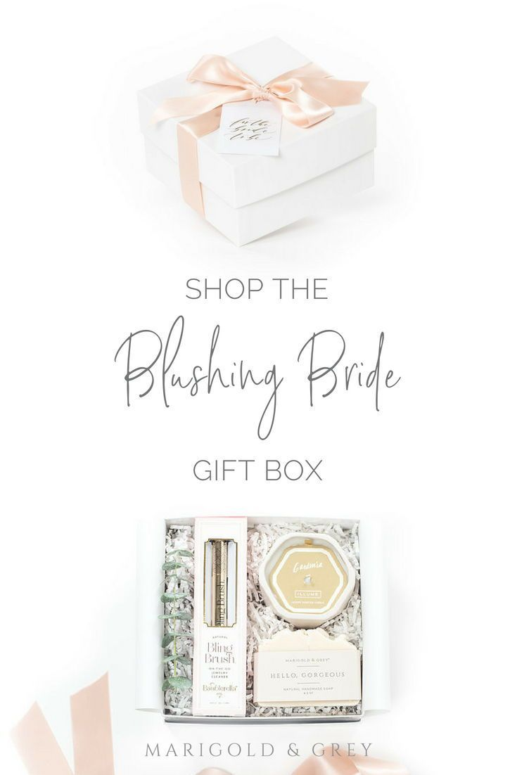 Blushing Bride Pre Designed Gift Box Collection Marigold Grey