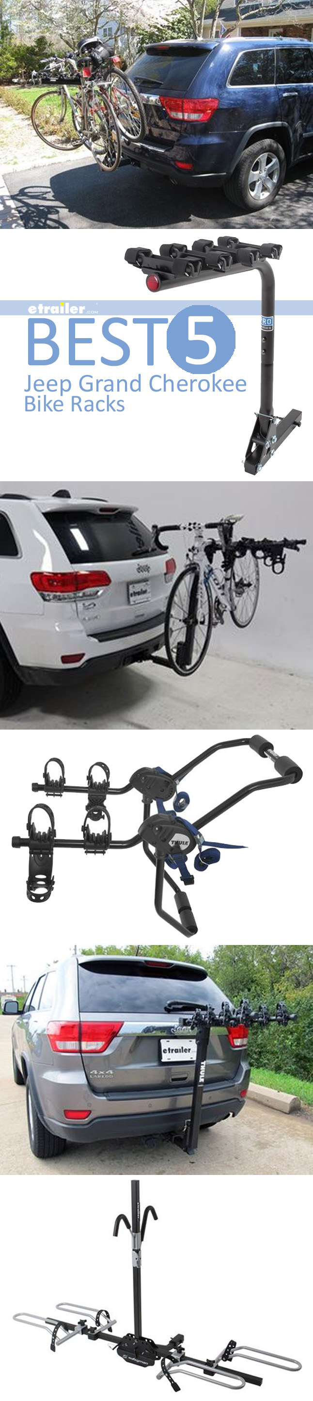 Best 5 Jeep Grand Cherokee Bike Racks Swinging Tilting Platform