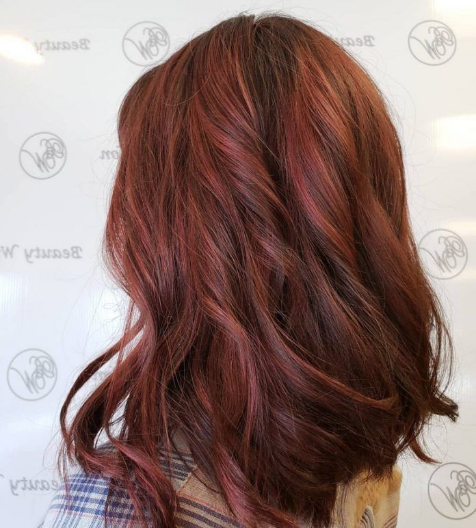 30 Brown Hair Color Ideas With Red Highlights In 2019 Red Brown Hair