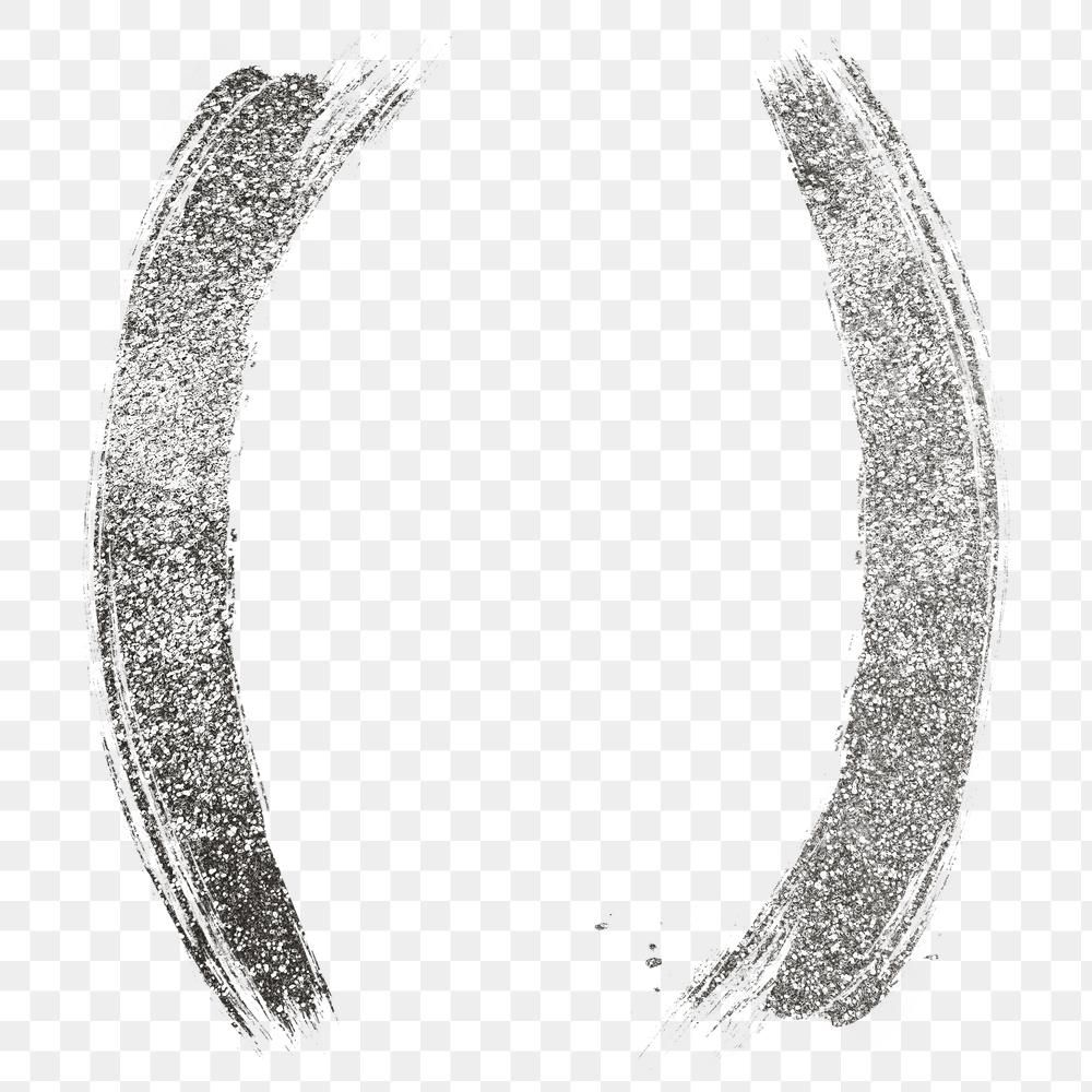 Silver Glitter Round Bracket Png Brush Stroke Font Free Image By Rawpixel Com Hein Brush Stroke Font Silver Glitter Silver