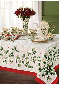 Lenox Holiday Table Linen Collection Christmas Table Cloth