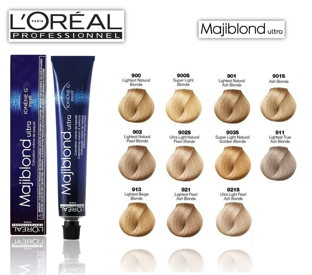 Loreal Majiblond Ultra Hi Lift Hair Color Chart