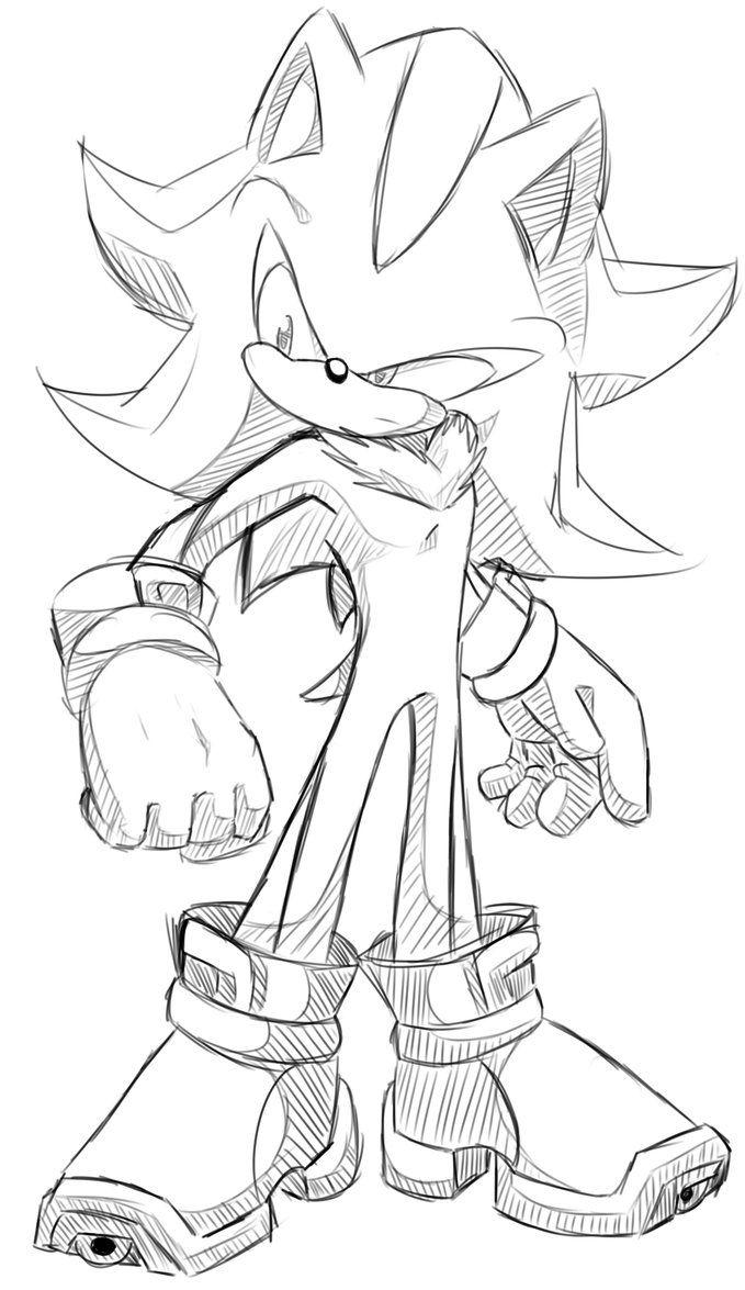 Shadow The Hedgehog Sketchy By Kyuubi83256 On Deviantart Shadow The Hedgehog Sonic And Shadow Sonic Art