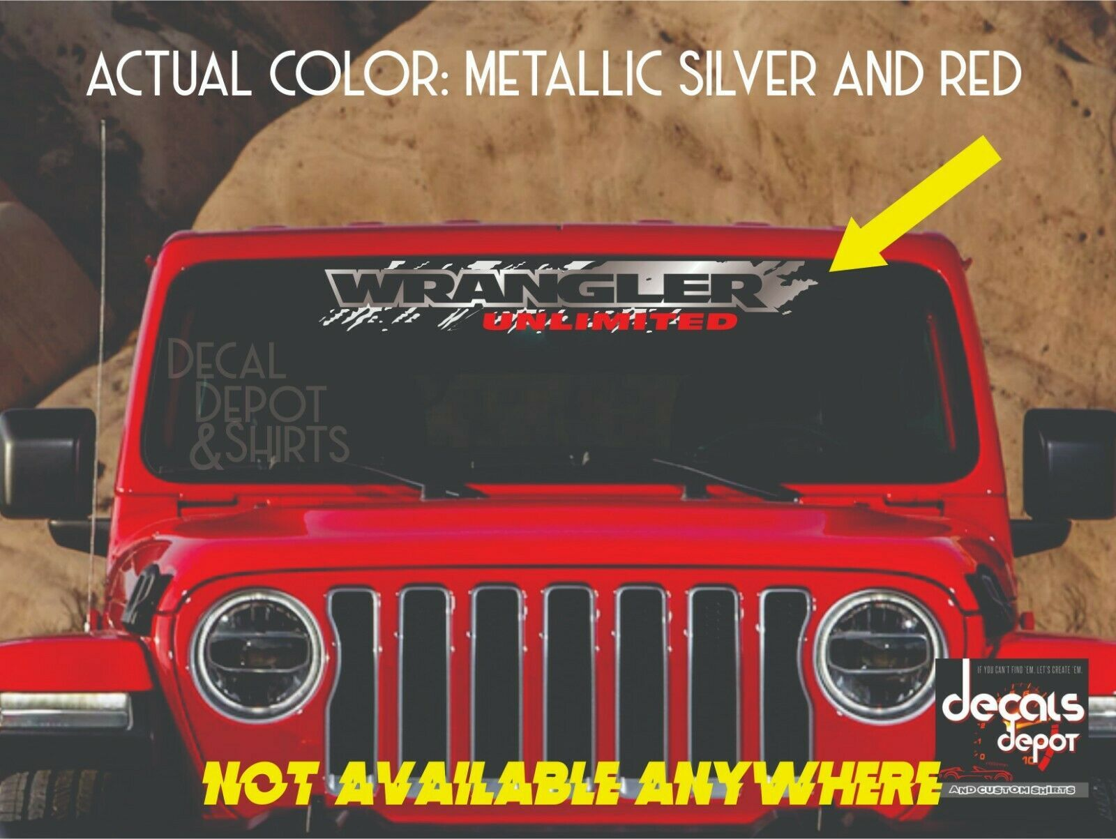 Windshield Banner Decal Fits Jeep Wrangler Unlimited Sport Rubicon