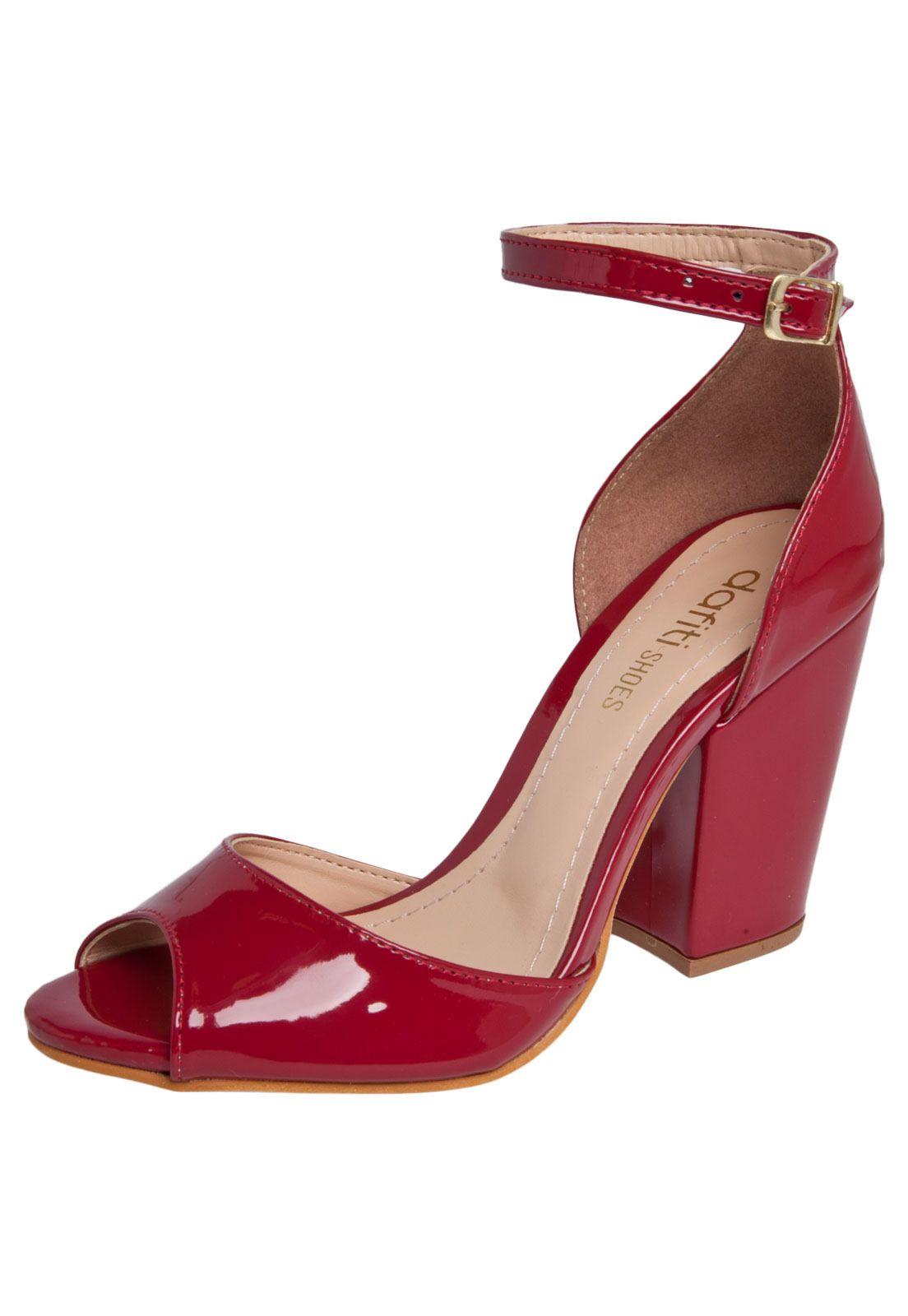 Sandália DAFITI SHOES Vermelha - Marca DAFITI SHOES f59731edce4
