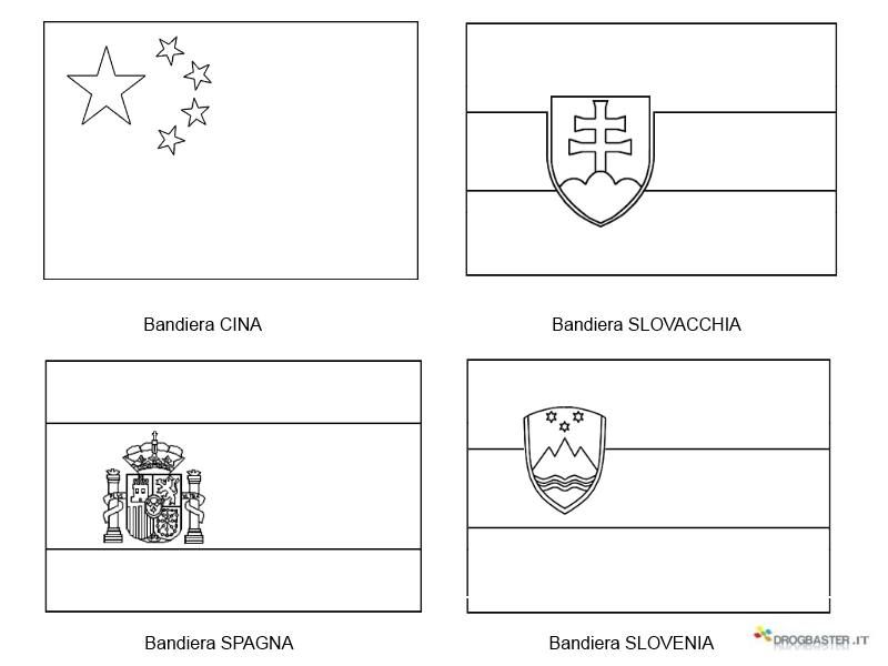 Mappa E Bandiere Da Stampare E Colorare Per Imparare I Bimbi
