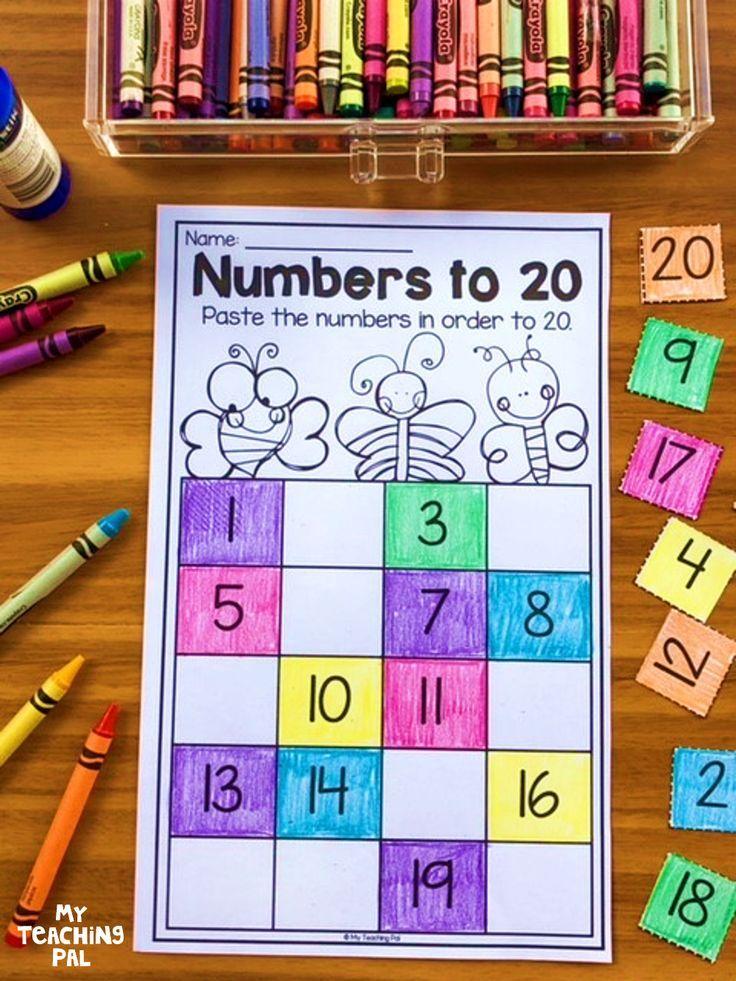 Kindergarten Place Value Worksheets | TpT Math Lessons | Pinterest