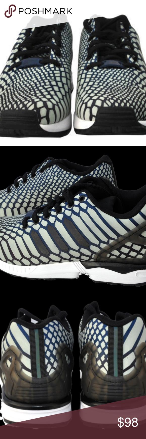 best website b6a76 f4a88 Reflective Adidas ZX Flux AQ4534 Running Shoes Reflective ...