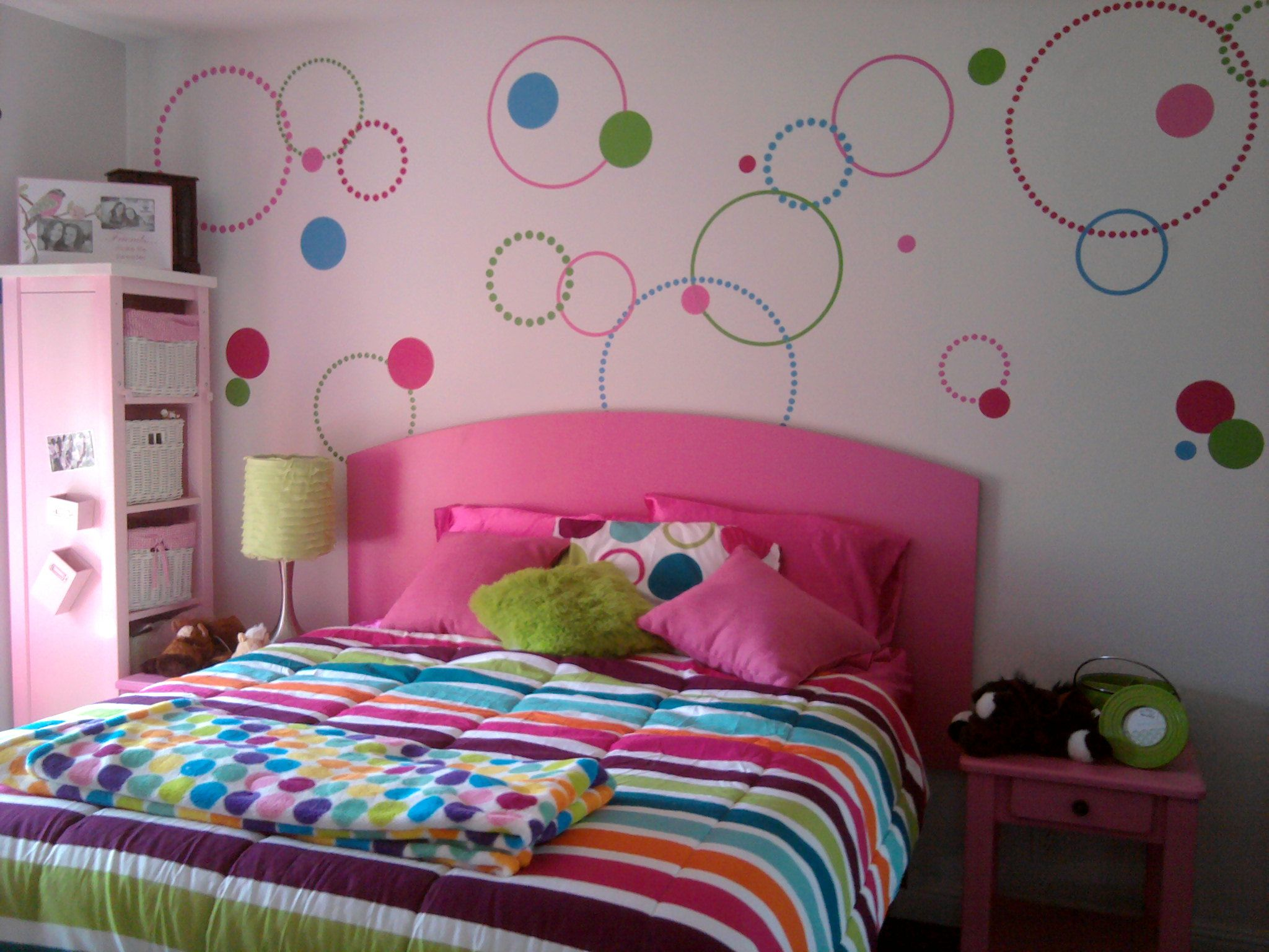 polka dot room finished girls room teen bedroom
