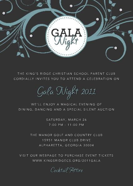 Gala Invitation Template Gala Invitations Gala invitation, Event