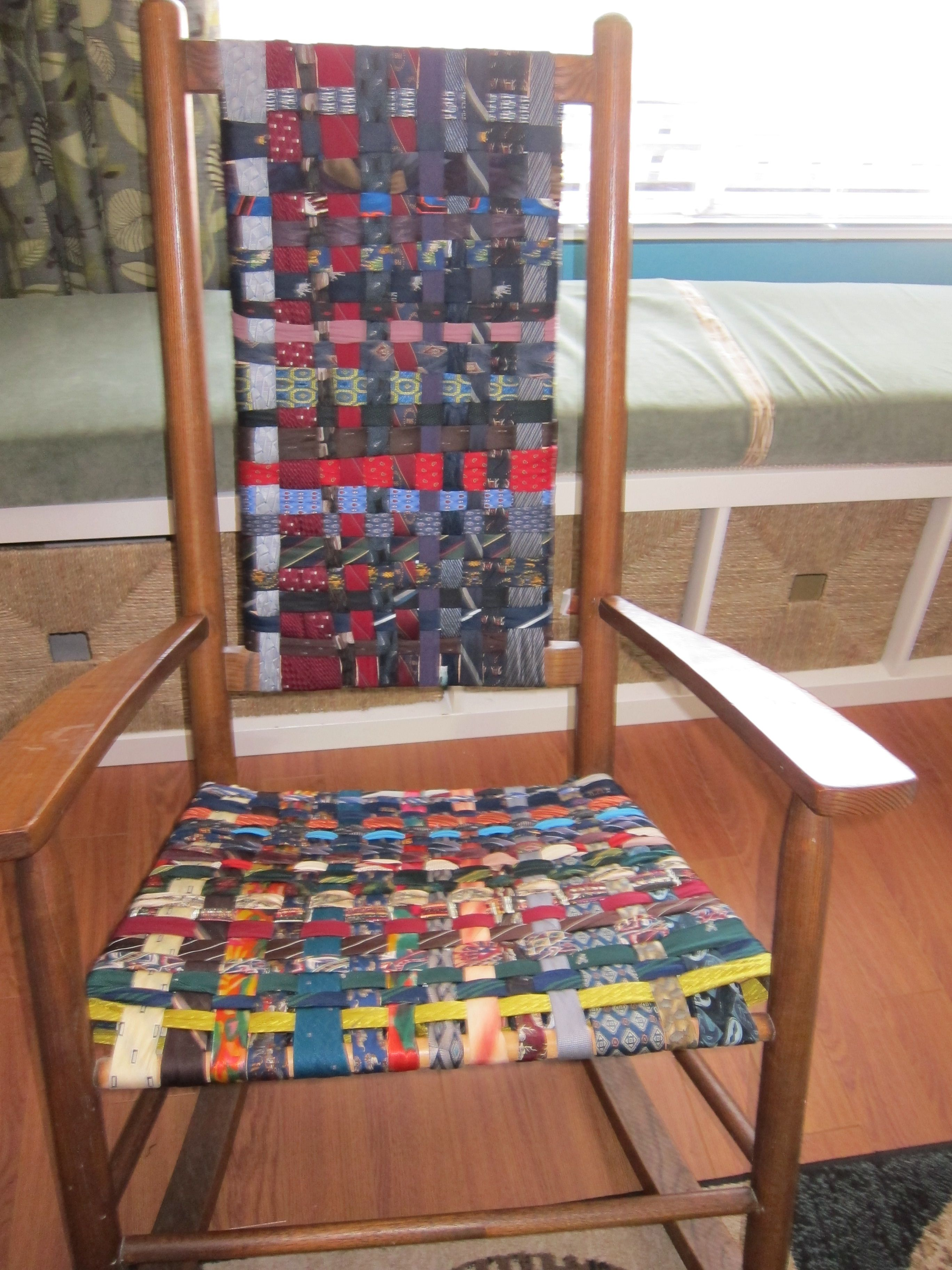 Wicker Chair Cushions With Ties Motorized Office My Old Rocking Which Had A Falling Apart Seat