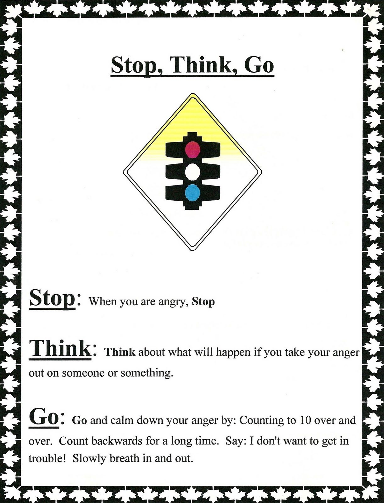 stop think go kid therapy pinterest character education