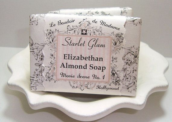 Elizabethan Almond Soap, Vegan with Shea Butter and Olive Oil by Starlet Glam Bath & Body -Member, The Artisan Group