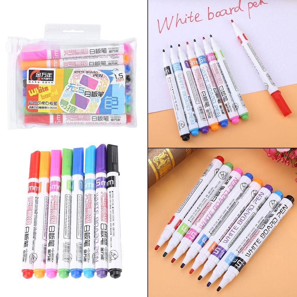 Color Non Toxic Erasable Whiteboard Markers 8 Colour Marker 8 Pcs Set Whiteboard Pens