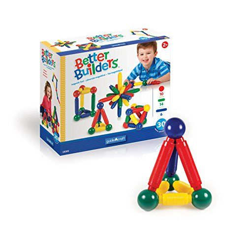 Guidecraft Better Builders G8300 30-Pieces First Magnetic...