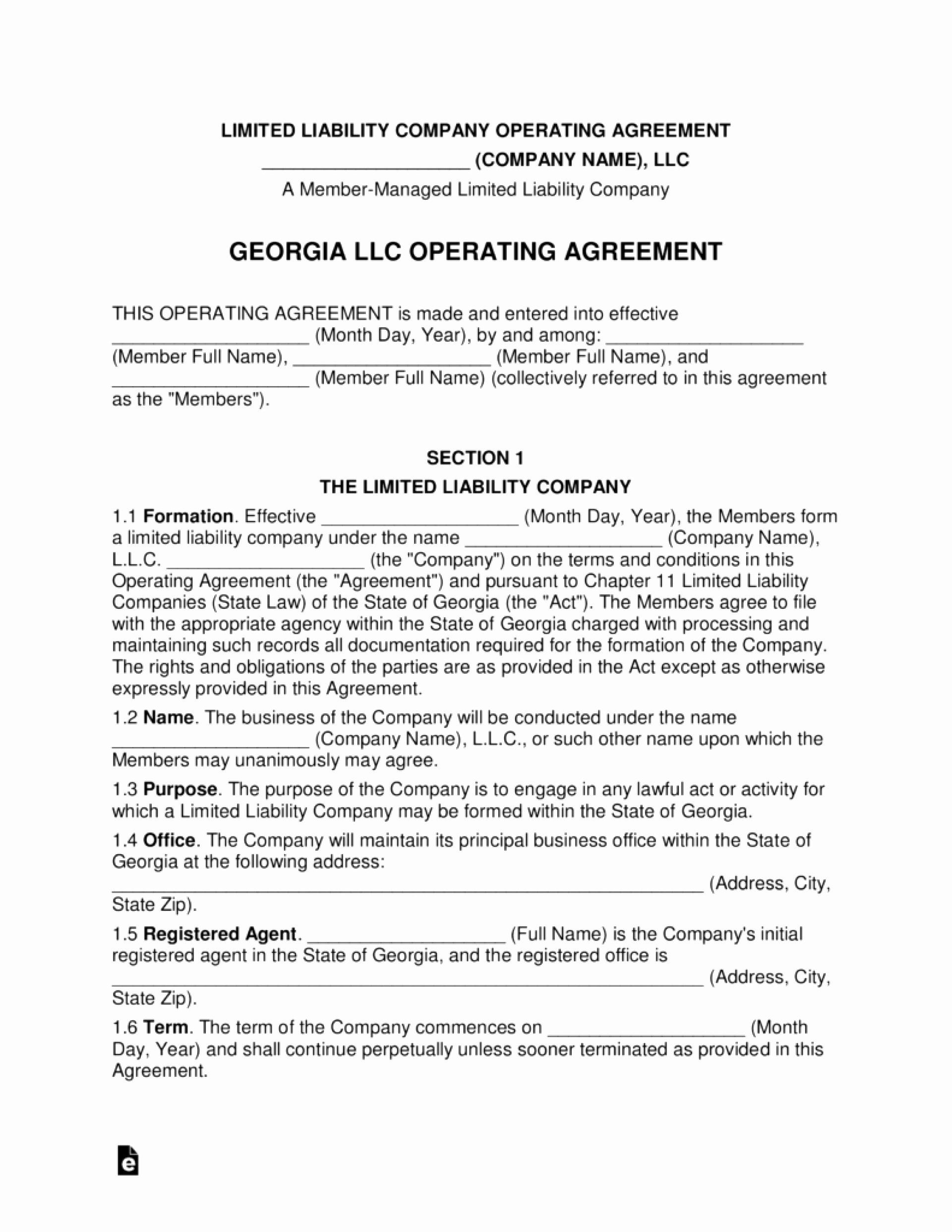 Llc Partnership Agreement Template Free In 2020 Agreement