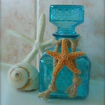Recordatorio para boda frasco para ba o decorado con for Banos decorados con ceramica